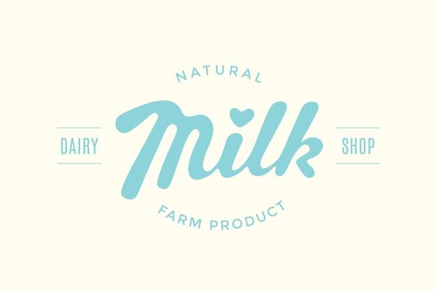Napis milk design dla marki