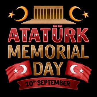 Napis na dzień pamięci atatürka