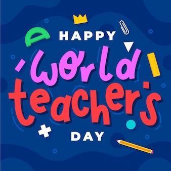 Napis na dzień szczęśliwy nauczycieli