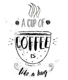 Napis na filiżankę kawy