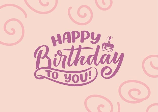 Napis na hasło na urodziny. ręcznie rysowane frazę