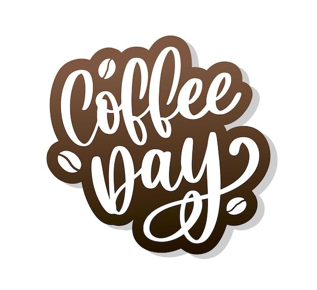 Napis na międzynarodowy dzień kawy