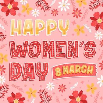 Napis na międzynarodowy dzień kobiet