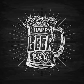 Napis na międzynarodowy dzień piwa
