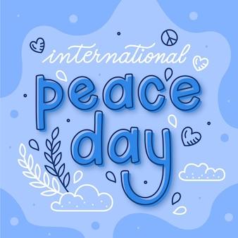 Napis na międzynarodowy dzień pokoju