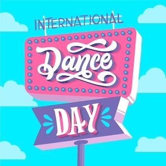 Napis na międzynarodowym dniu tańca
