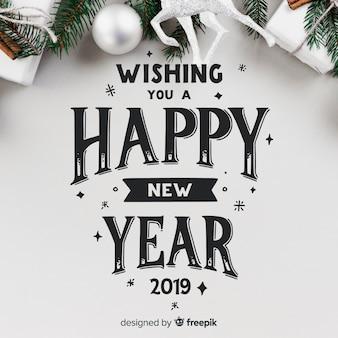 Napis na nowy rok 2019