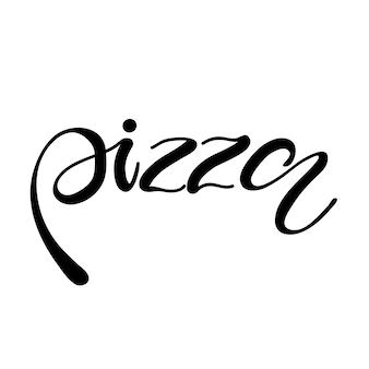 Napis na pizzę. ilustracji wektorowych.
