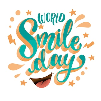 Napis na światowy dzień uśmiechu