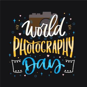 Napis na światowym dniu fotografii