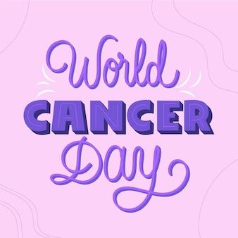 Napis Na światowym Dniu Raka Darmowych Wektorów