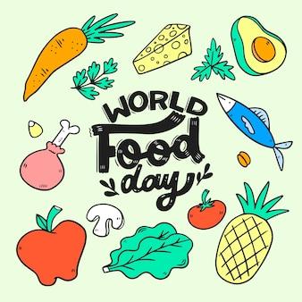 Napis na światowym dniu żywności