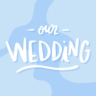 Napis na tle ślubu nasz ślub