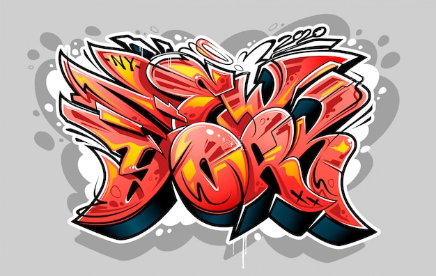 Napis new york graffiti wild style