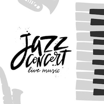 Napis pędzla na koncert jazzowy