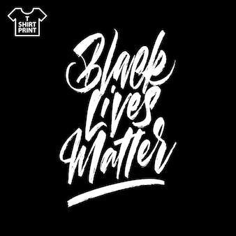 Napis Pędzlem Black Lives Matter. Ręcznie Rysowane Kaligrafii Premium Wektorów