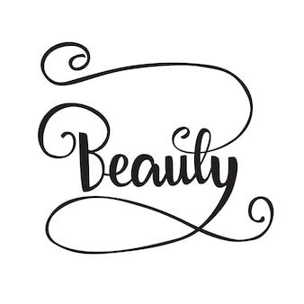 Napis piękno