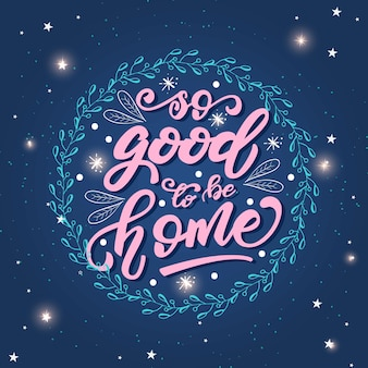 Napis plakat z frazą o domu