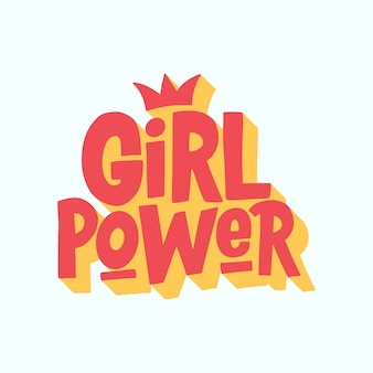 Napis power girl.