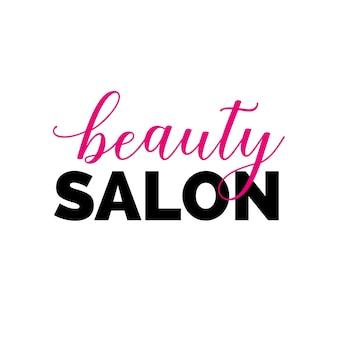 Napis salon piękności z swirls