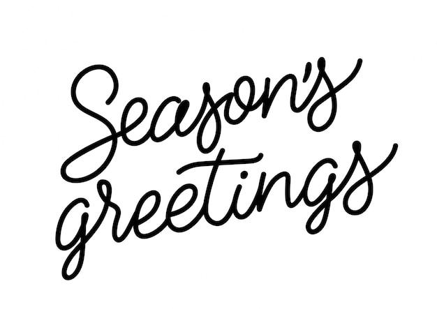 Napis seasons greetings