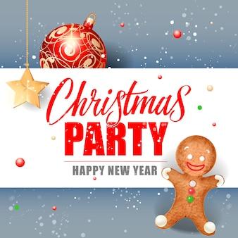 Napis świąteczny i cookie