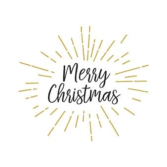 Napis świąteczny w światłach