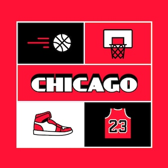 Napis w mieście chicago