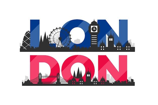 Napis w mieście londyn