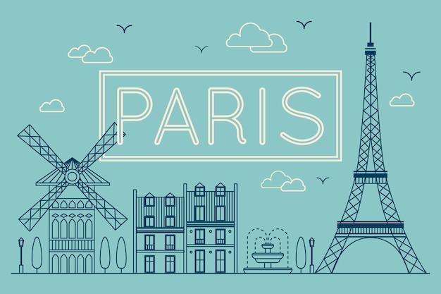 Napis w mieście paryż