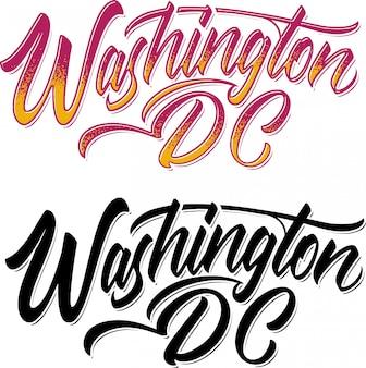 Napis w waszyngtonie