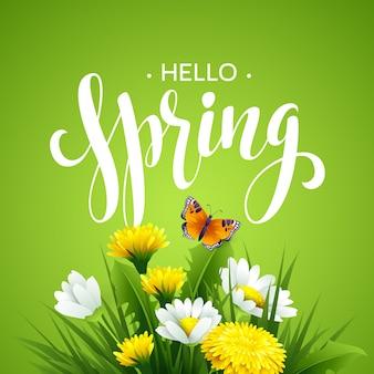 Napis wiosna czas