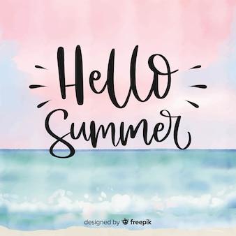 Napis witaj lato