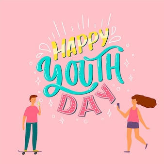 Napis z okazji dnia młodzieży