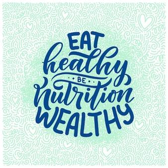 Napis zdrowej żywności. ekologiczny produkt żywienia organicznego.