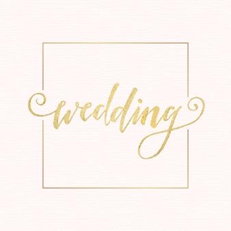 Napis złoty ślub