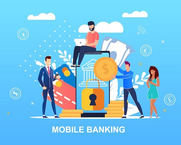 Napisano bankowość mobilną