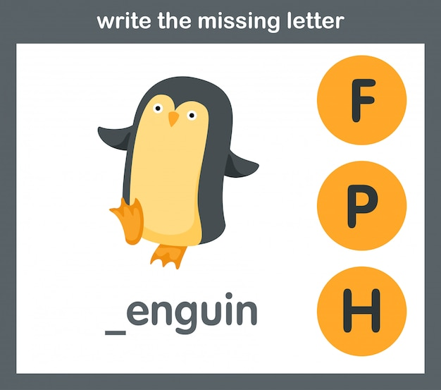 Napisz brakującą literkę