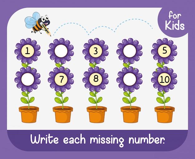 Napisz każdy brakujący numer