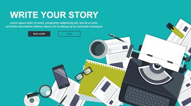 Napisz swój biznesowy baner do dziennikarstwa i blogowania