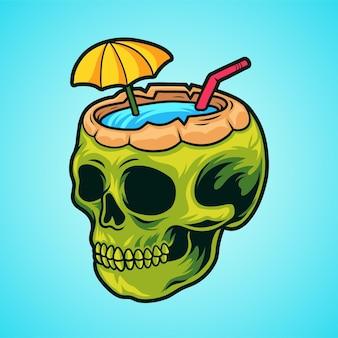 Napój kokosowy z czaszką