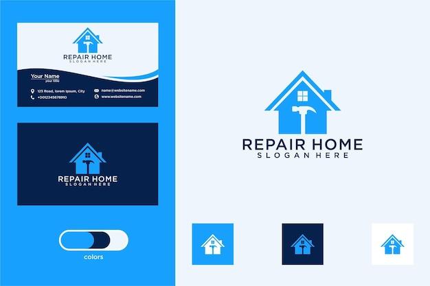 Napraw projekt logo domu i wizytówkę
