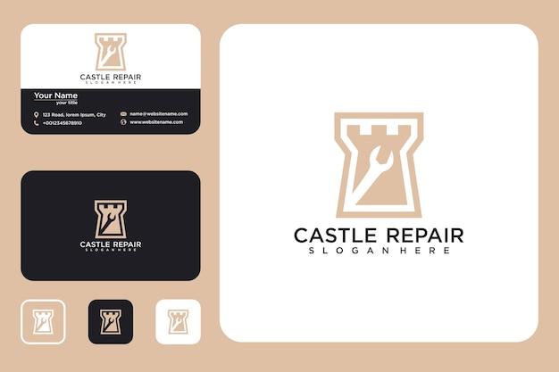 Naprawa projektu logo zamku i wizytówki