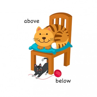 Naprzeciw ilustracji wektorowych poniżej i powyżej
