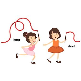 Naprzeciwko krótkie i długie