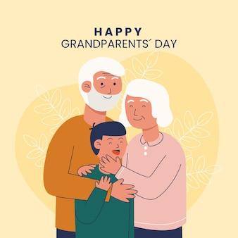 Narodowy dzień dziadków z dziadkami i siostrzeńcem
