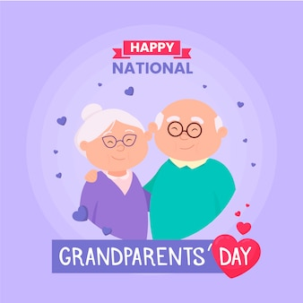 Narodowy dzień dziadków ze starszą parą