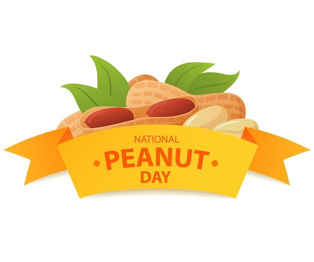 Narodowy dzień orzeszków ziemnych. logo