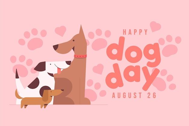 Narodowy dzień psa ilustracja
