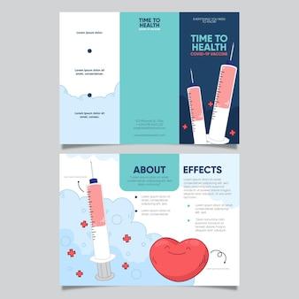 Narysowana broszura informacyjna dotycząca szczepień przeciwko koronawirusowi